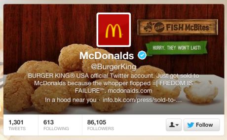 Hacker sa zabával na Twitter účte Burger Kingu