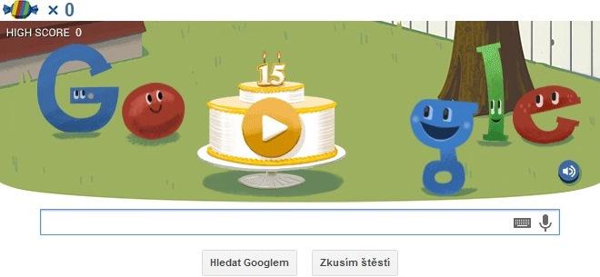 Google oslavuje 15. narodeniny!