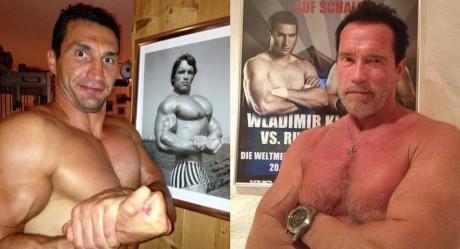 Kličko a Schwarzenegger