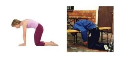 Marjayasana - na stimuláciu chrbtice