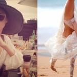 Sexi modelka Miranda Kerr ukázala, čo má pod šatami