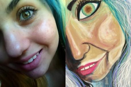 Najlepšie selfie fotky vylepšené umelcom 9