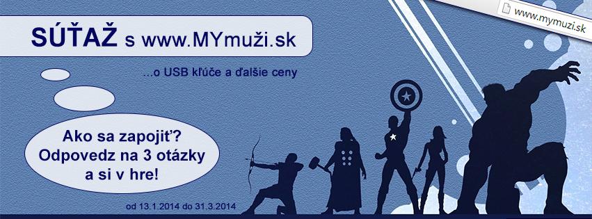 Súťaž o USB kľúče a ďalšie ceny s www.MYmuži.sk